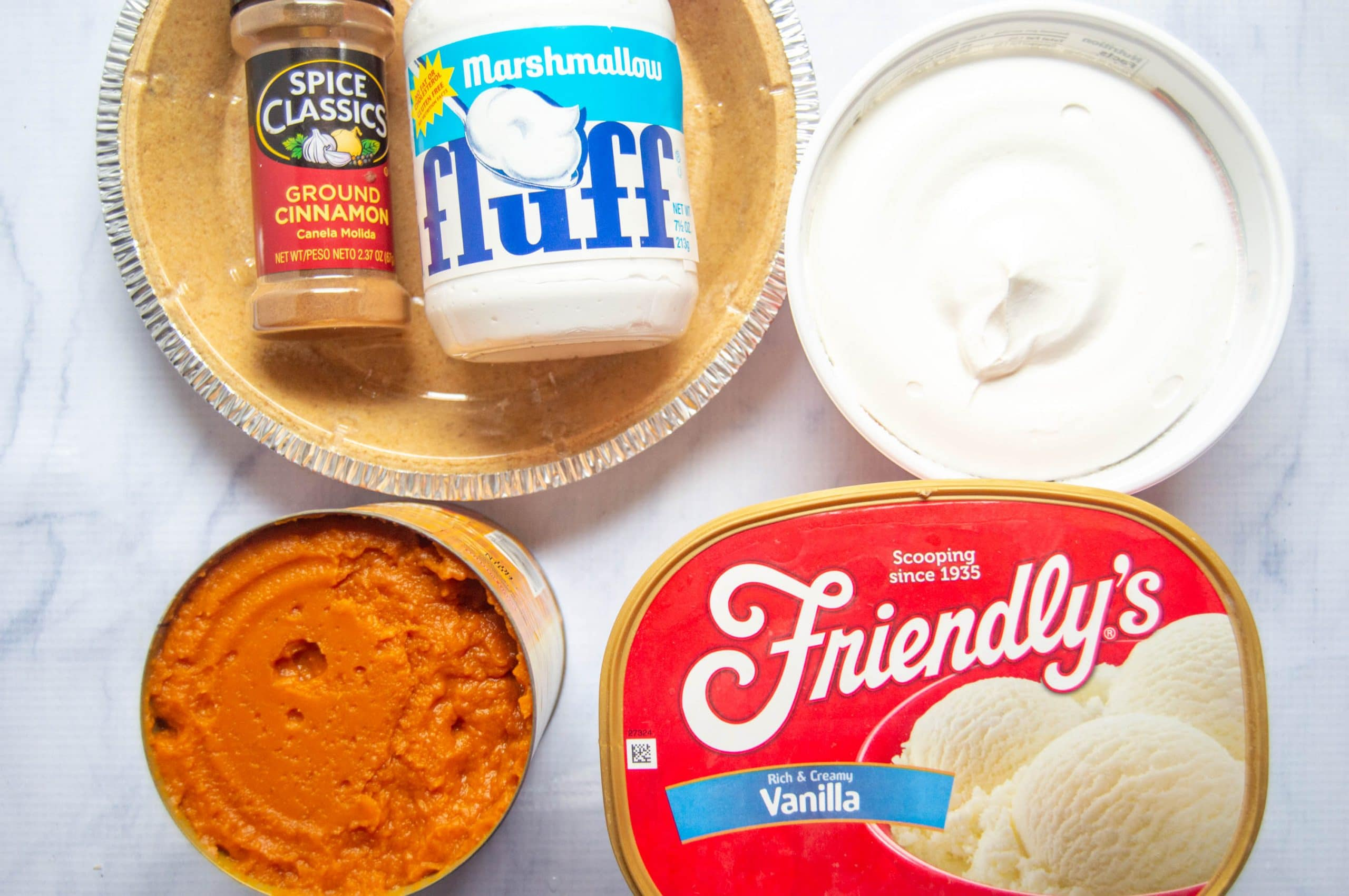 recipe for pumpkin fluff ice cream pie