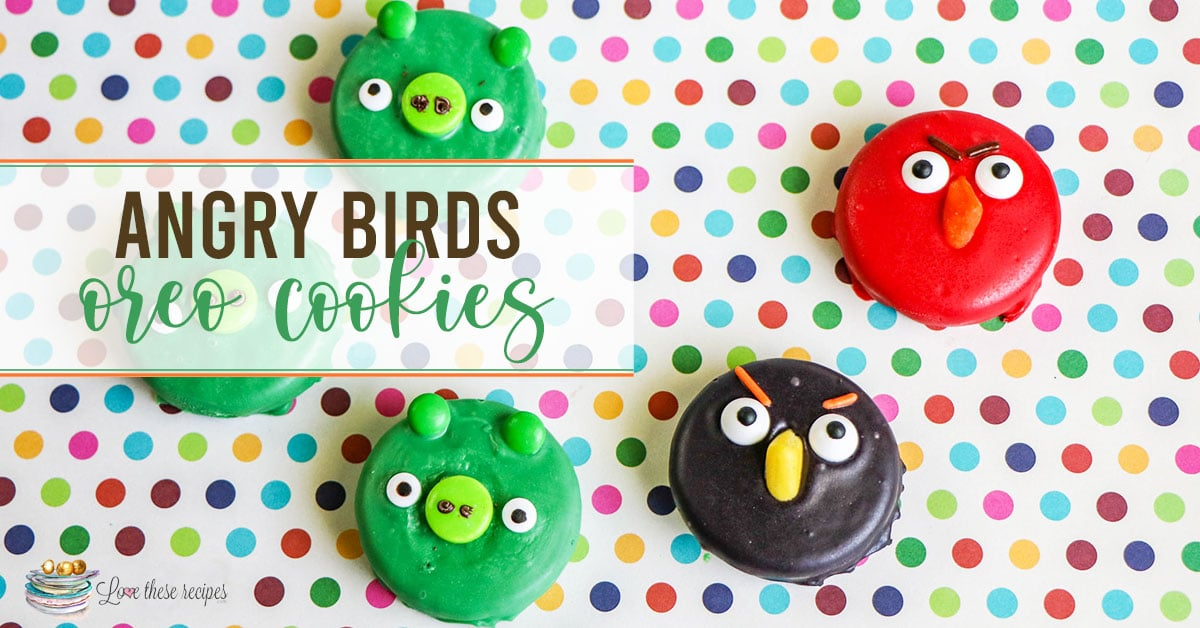 Angry Birds decorated Oreos