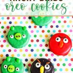Angry Birds decorated Oreo cookies