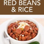 bowl of red beans over rice