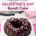 chocolate ganache bundt cake for Valentine's Day
