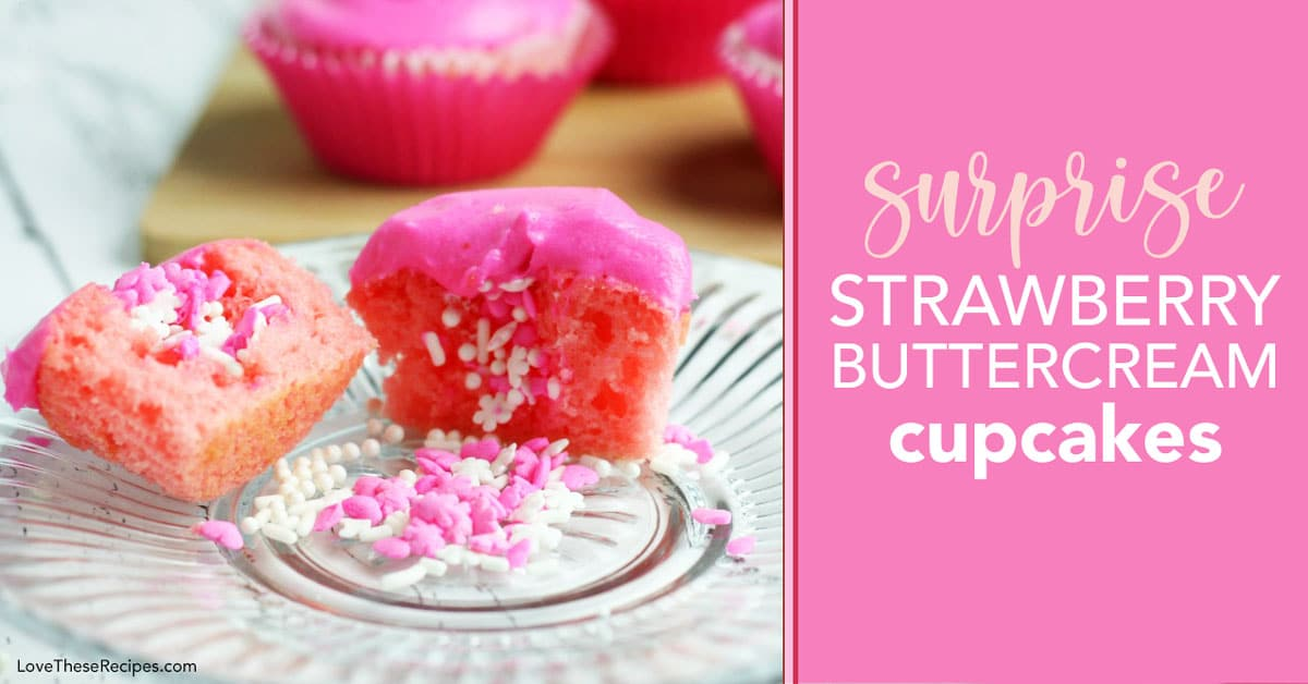 pink cupcakes with sprinkles inside