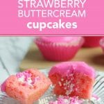 strawberry surprise cupcakes