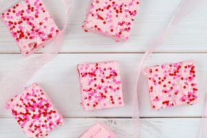 strawberry fudge for Valentine's Day