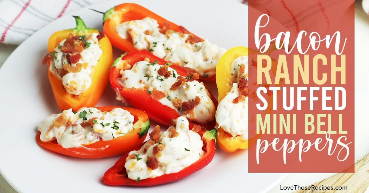 image of stuffed mini bell peppers