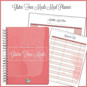 Gluten Free meals Meal Planner