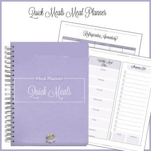 Quick Meals Meal Planner