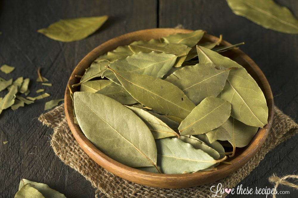 bay leaves in a bowl