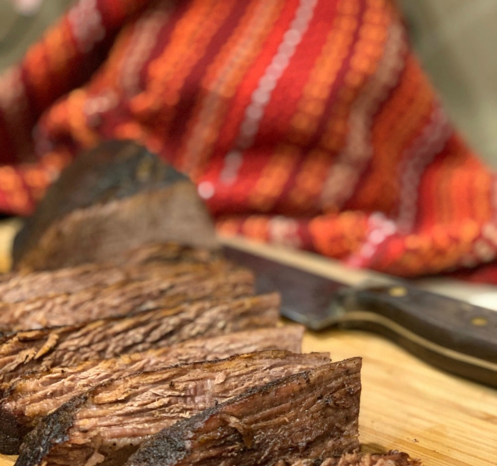 brisket cut and ready to serve