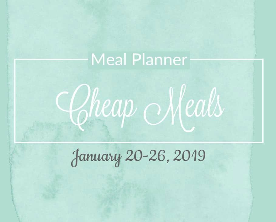 Free 5 Day Cheap Meal Plan