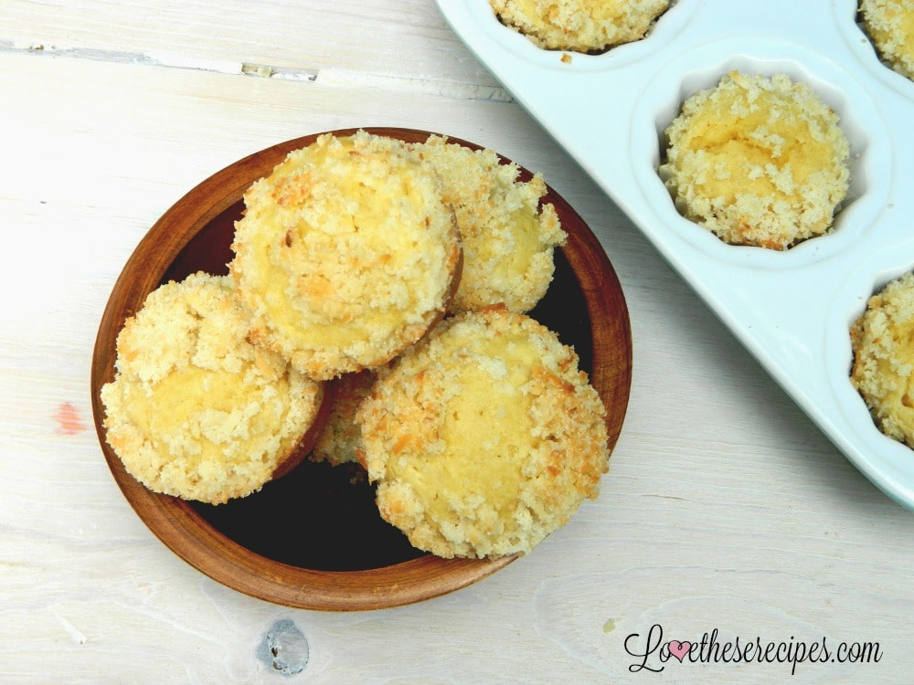 pina colada muffins on a plate