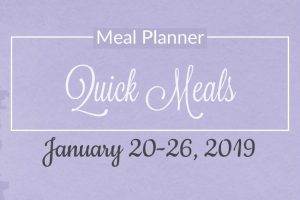 Free 5 Day Quick Meals Meal Plan